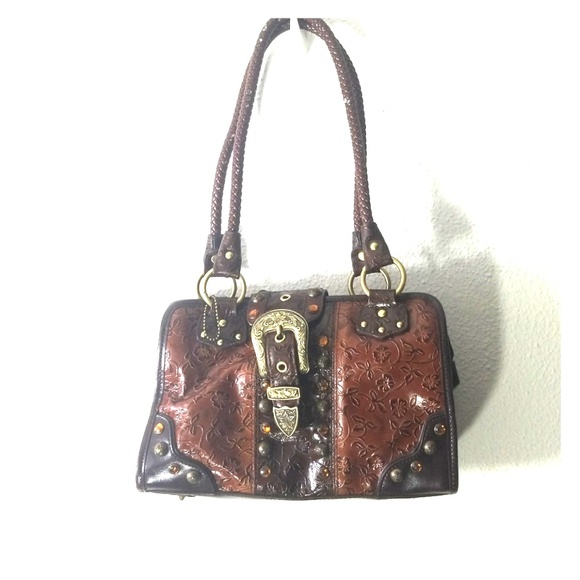 mc Handbags - M.C. leather tooled purse